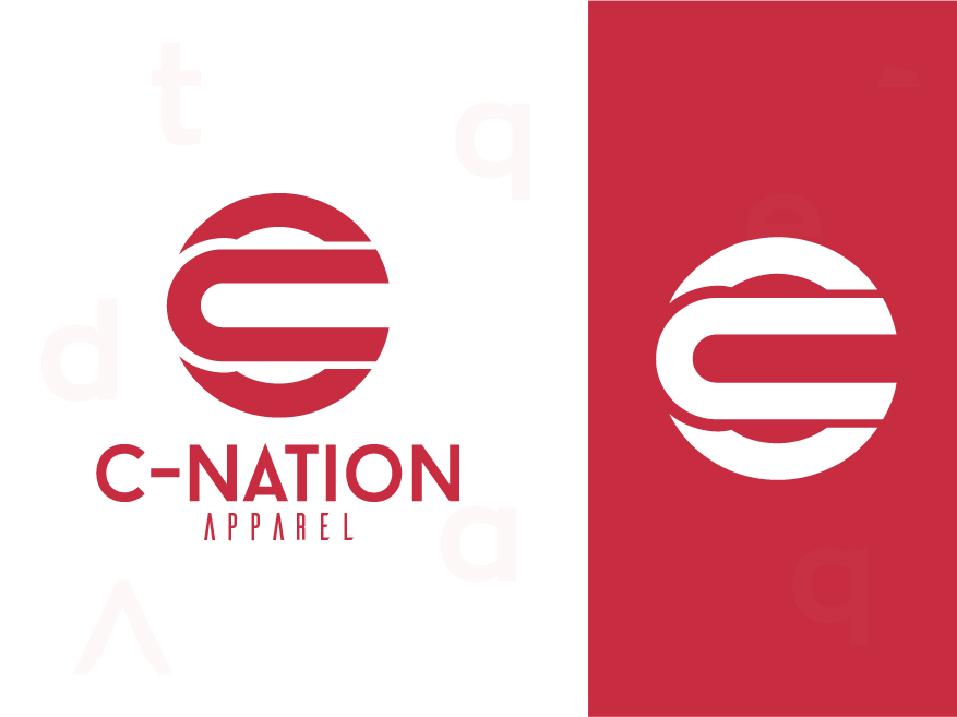 C-Nation Apparel ux ui logo web app colorful logo abstract logo icon concept identity minimal design concept design clean brand agency vector creative logo design branding brand identity