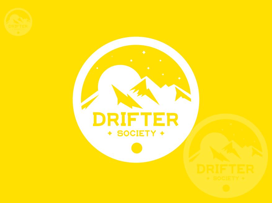 Drifter Society ui web app colorful logo abstract logo flat icon concept vector identity minimal design design concept logo clean brand agency creative logo design branding brand identity