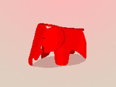 Eames Elephant Pixel Art