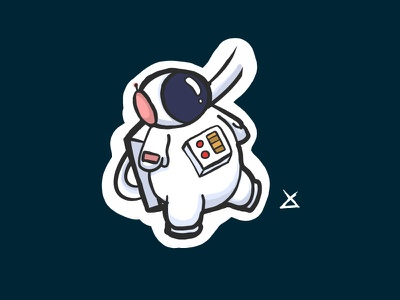 Space! sticker motion adobe draw illustration astronaut space