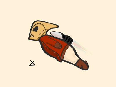 Rocketeer adobe draw rocketeer rocket illustrator illustration