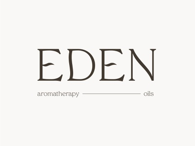Eden packaging mental health aromatherapy beauty natural plants scents essential oils illustration branding