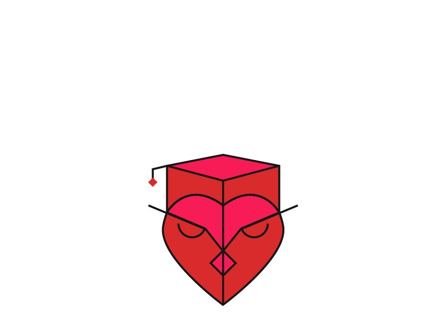 Graduate Owl education learning vector minimal branding logo icon