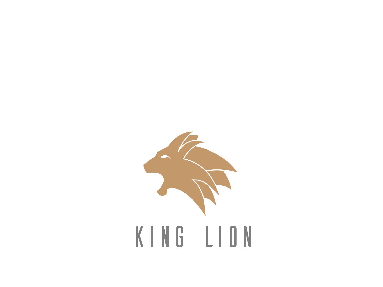 King Lion color flat lion logo lion design animal 99 designs vector branding icon logo
