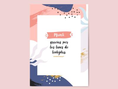 Diseño de tarjeta por el Día de la Madre