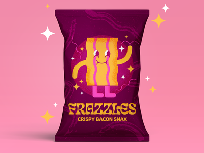 Frazzles crisps photoshop chips character design packaging crisps typography branding illustrator art shapes illustration graphic  design vector design