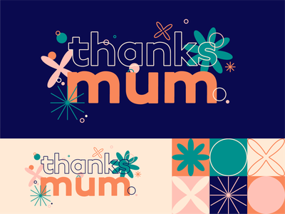 Mothers Day mothersday mum web app typography logo branding art shapes icon thick lines graphic  design illustration design vector
