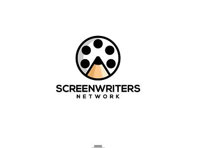 Screenwriters filmproduction filmmaker film pen network writing screenwriters writers screen vector illustration designs brandidentity logodesigns branding logo logodesigner designer art