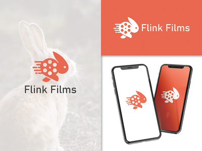 Flink Films films filmmaker speed nimble flink production film rabbit brand identity designs vector creative animal branding logo logodesigner designer art