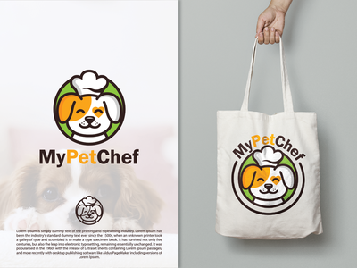 My Pet Chef pets dog logo chef hat chef pet dog design logodesigner branding animal illustration creative vector designer art