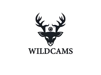 Wildcams logodesign designer branding network business capture wildlife photography logo camera deer luxury design sophisticated logo simple brandidentity vector creative logo design art