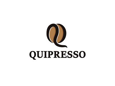 Quipresso design coffee time services office business icon sophisticated logo elegent simple coffee bean bean coffee lettermark logos creative branding logodesigner designer vector art