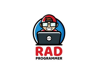 Rad programmer pictorial logo service business creative youthful playful design developement computer coding programmers brandidentity branding logos logodesigner designer vector art illustration