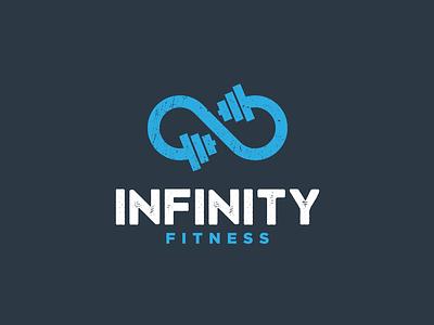 Infinity Fitness business studio healthy infinity vintage logo dumbell sports logo training fitness logo icon simple brandidentity illustration logos vector creative branding logodesigner art designer