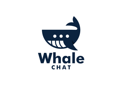 Whale Chat business agency fish logo communication design chat design chat whale logo simple logo combination logo design logodesign brandidentity illustration logos vector creative branding logodesigner designer art
