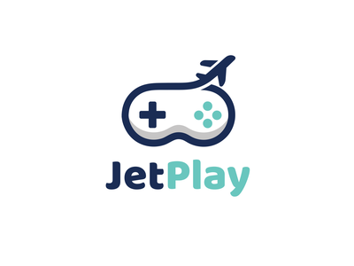 Jet Play playful logo fun icon combination logo internet play jet plane game design designs logodesigns brandidentity illustration logos vector creative branding logodesigner designer art