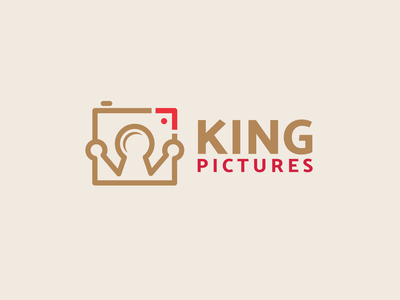 KING PICTURES sophisticated logo combination mark luxury design camera logo photography logo pictures crown logo king logo logodesigns brandidentity illustration logo logos vector branding creative logodesigner designer art