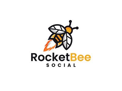 Rocket Bee fun design youthful combination mark marketing space design bee logo rocket logo graphicdesign logodesigns brandidentity illustration logo logos vector branding creative logodesigner designer art