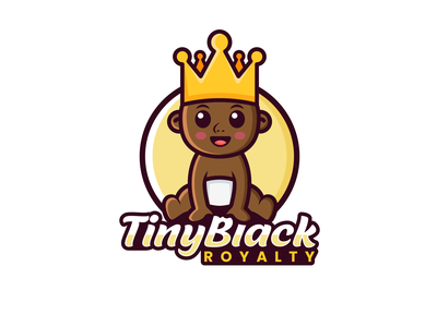 Tiny Black Royalty crown royalty baby design fun design playful design combination mark combination logo mascot design mascot logodesigns logo illustration design logos vector creative branding logodesigner designer art
