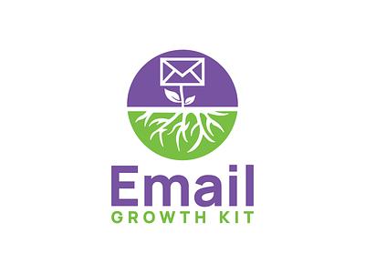 Email Growth Kit fun design negative space combination mark combination logo leaf design nature logo growth email logodesign logodesigns logo illustration design logos vector creative branding logodesigner designer art