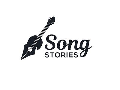 Song Stories logodesign logodesigns combination mark combination logo writers design writing guitar music logo songs illustration design logos vector creative logodesigner designer art branding logo graphic design