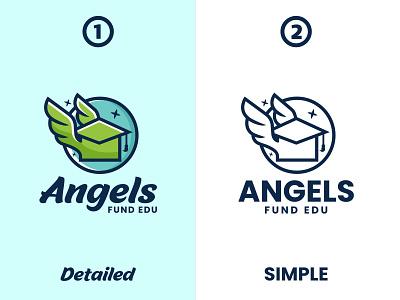 Angels Fund Edu illustration design logos vector creative branding logodesigner designer art logo graphic design