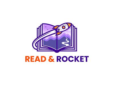 Read & rocket combination logo fun design playful design education spaceship space design rocket logo logodesign logodesigns illustration design logos vector creative logodesigner designer art branding logo graphic design