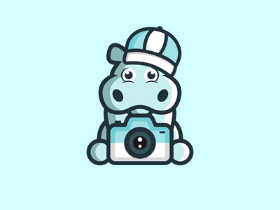 Hippo mascot combination mark animals logo photography design camera logo playful design fun design hippo logo mascot logo mascot design illustration design logos vector creative logodesigner designer branding logo graphic design art