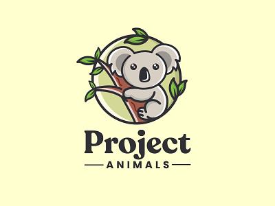 Project animals cute animals youthful designs combinaison mark cute design animals logo fun design koala logo combinaison logo mascot design illustration design logos vector creative logodesigner designer art branding logo graphic design