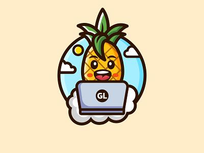 Gamozo Labs software hacker logo fruit logo fruit combination logo combination mark madcot cute design fun design graphic design logo illustration design logos vector branding creative logodesigner designer art