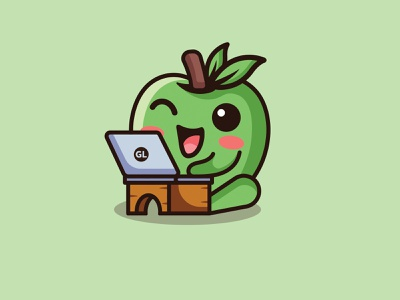 Gamozo labs icon hacker logo cute logo playful design fun design mascot design mascot combination logo apple logo fruit logo graphic design logo illustration design logos vector branding creative logodesigner designer art