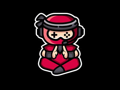 Ninja game icon combination logo combination mark playful logo fun design game logo discover logo ninja logo mascot design mascot graphic design logo illustration design logos vector branding creative logodesigner designer art