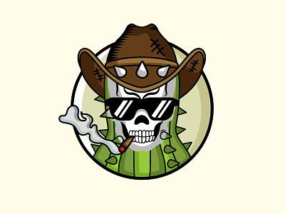 Cactus crew playful design logo design skull logo cactus combination logo combination mark fun design logodesigns logodesigners illustration logos design vector creative logodesigner branding logo graphic design designer art