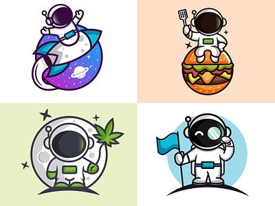 Space logos mascot combination logo space illustration fun design mascot logo rocketship logo astronaut logo space design space logo illustration design logos vector creative logodesigner designer art graphic design branding logo