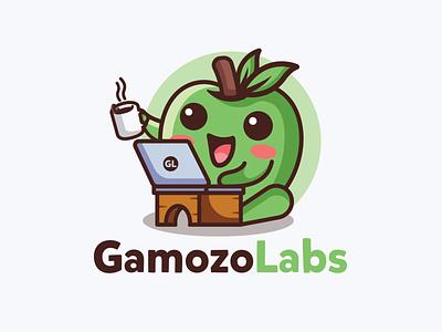 Gamozo labs mascot design fun design fruit logo apple logo combination logo mascot playful design cute logo hacker logo illustration design logo graphic design logos vector branding creative logodesigner designer art