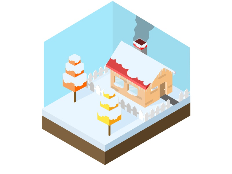 Isometric Winter snow isometric season season winter isometric winter isometric illustration icon challenge isometric logo icon flat  design vector illustration