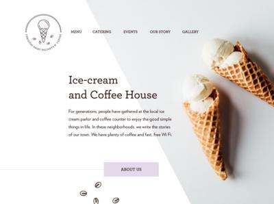 Ice cream coffee shop landing page