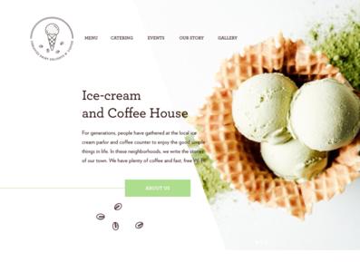 Ice cream shop homepage