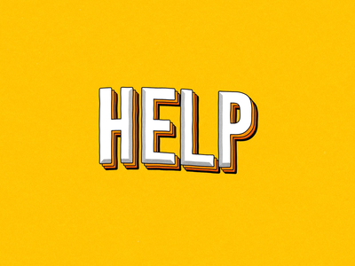 Help Me motion felipe dolce help motion design type animation typography illustration after effects loop animation 2d animation animation motion graphics