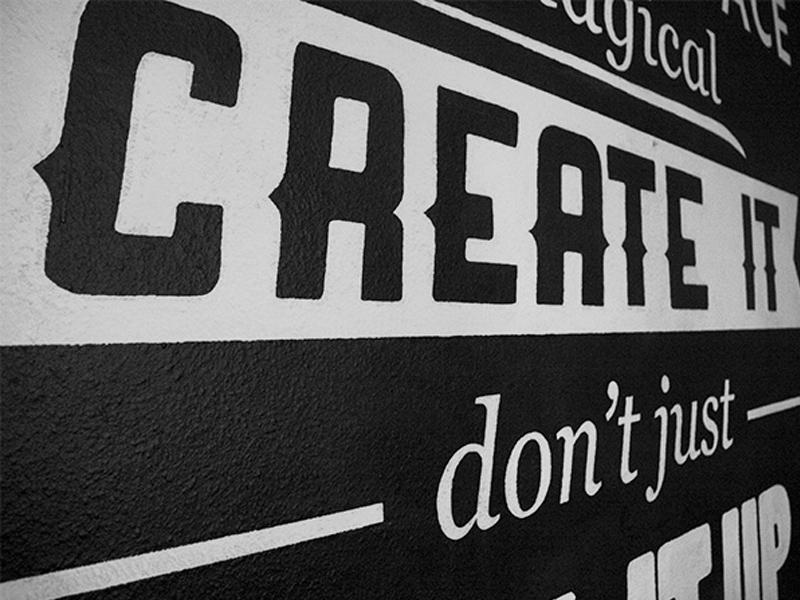 Type Mural copenhagen typography typemural wall bw handpainted fonts type