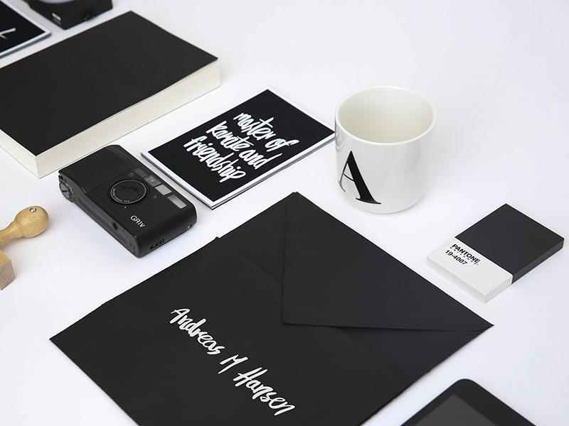 Dribble copenhagen denmark typography branding selfpromotion bw artdirection