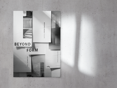 Beyond Form Poster minimal typography design