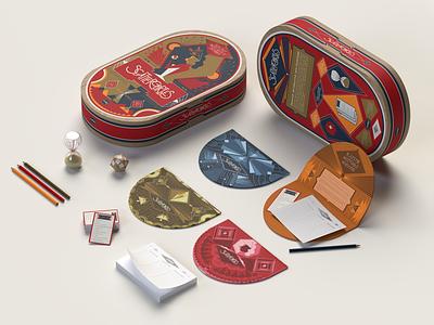 Scattergories Redesign vector illustration packaging design packaging design