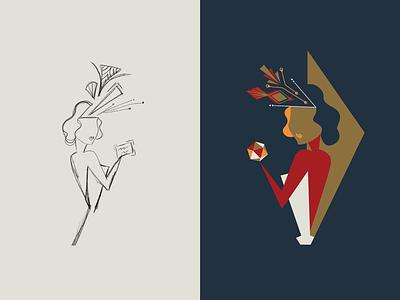 Illustration Process design vector packaging design illustration