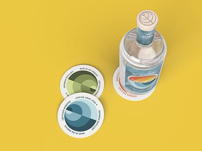 Greenbar Distillery vector logo branding illustration packaging typography packaging design design