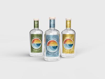 Greenbar Distillery vector branding alchohol packaging minimal packaging design typography design