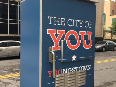 City of You Utility Box type flat branding typography design logo ohio youngstown