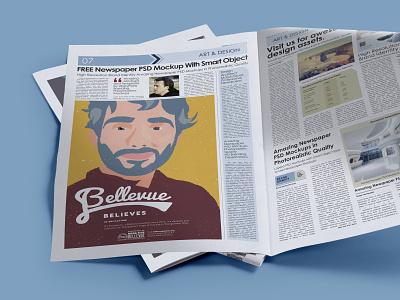 Bellevue Believes newspaper advertisement marketing community advertising branding believes bellevue brand identity