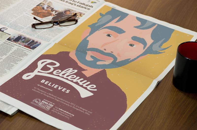 Bellevue Believes newspaper advertisement community advertising marketing brand identity bellevue believes