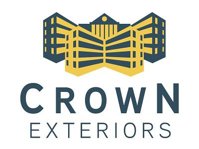 Crown Exteriors logo construction branding brand identity